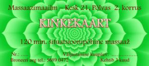 1764c648fcd Kinkekaarte on võimalik tellida 60 min / 20€ ja 120 min / 45€